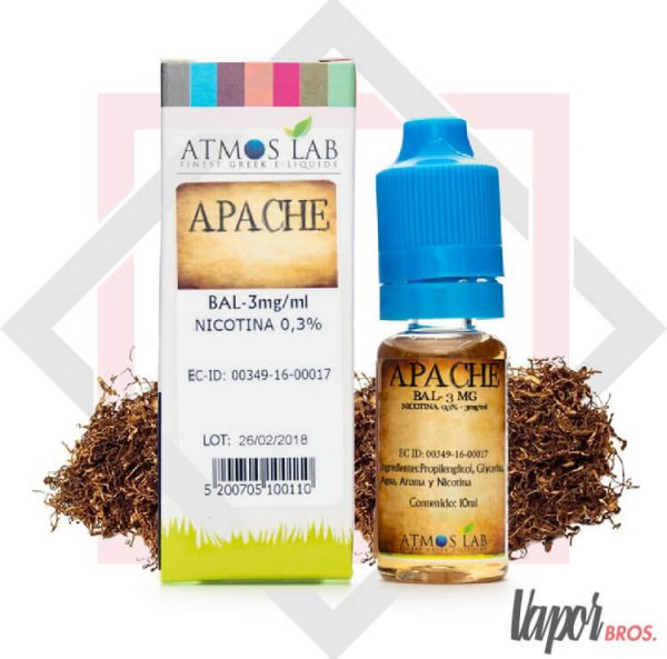 apache sales de nicotina atmos lab 10 ml 18 mg