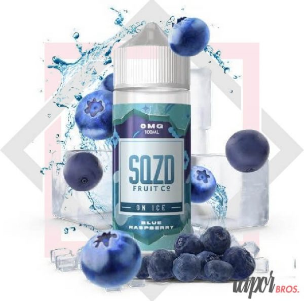 blue raspberry on ice sqzd fruit co. 100 ml on ice